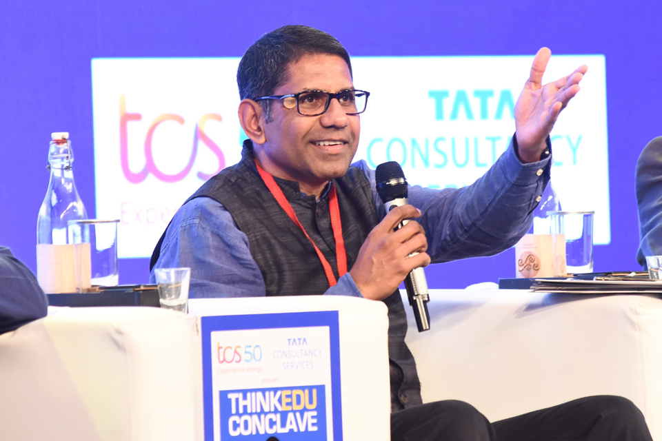 Parth Shah speaks at the ThinkEdu Conclave 2019